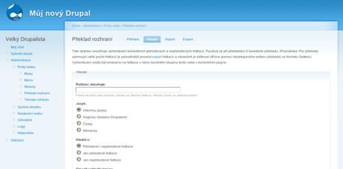 Překlad uživatelského rozhraní Drupalu