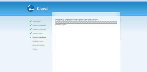 Průběh instalace Drupalu