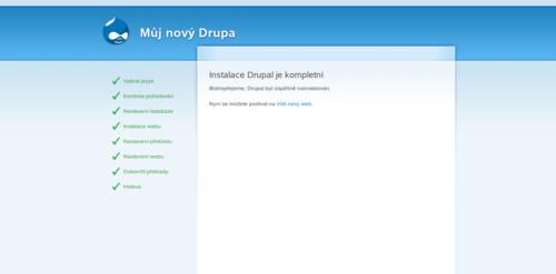 Úspěšně jste nainstalovali svůj první Drupal!