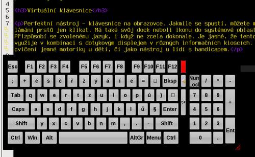 Virtuální klávesnice