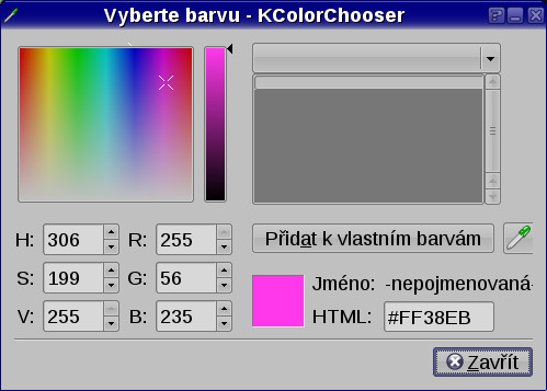 Výběr barvy