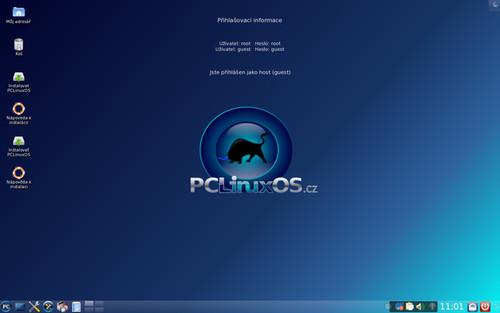 Vzhled desktopu je přehledný a ničím neruší