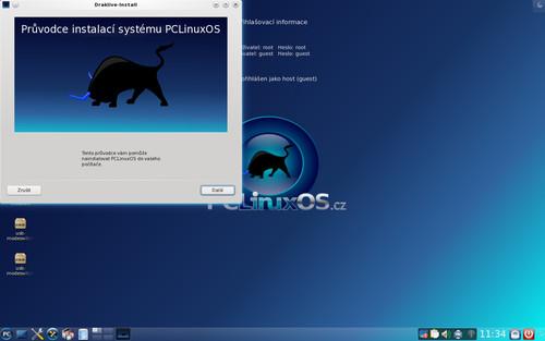 Grafický instalátor vás snadno provede instalací systému