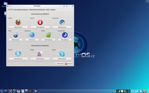 Stejně jednoduchá jako aktualizace, je i instalace vybraných aplikací