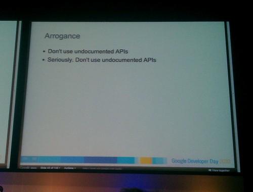 GDD 2010 - Don't use undocumented APIs