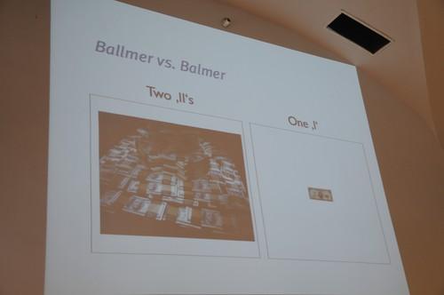 Ballmer vs. Balmer