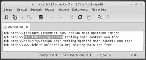 Opravdu je to Debian