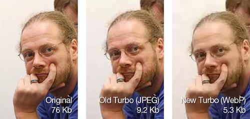 Porovnání komprese formátů JPG a WebP