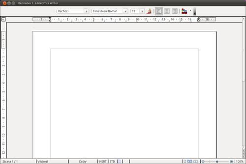 LibreOffice 3.3 (po uživatelských úpravách)
