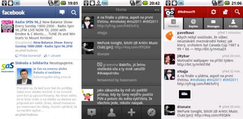 Facebook, Tweetdeck, Seesmic