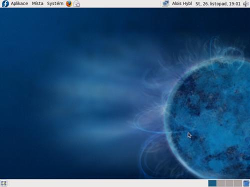 Grafické prostředí GNOME v distribuci Fedora 10