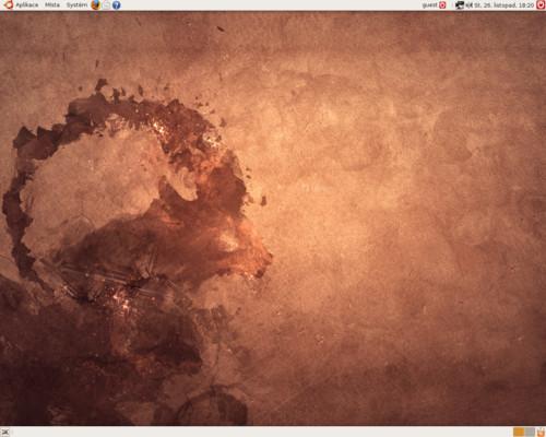 Grafické prostředí GNOME v distribuci Ubuntu 8.10 Intrepid Ibex