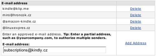 Povolení adresy subscriptions@kindly.cz
