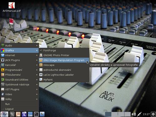 Z grafických aplikací nemůže chybět GIMP ani Inkscape
