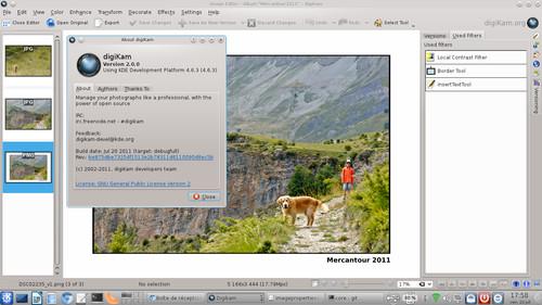 Propracovaný správce fotografií digiKam ve verzi 2.0