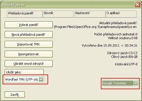 Nastavení překladů, tentokrát na mé pracovní stanici s Windows
