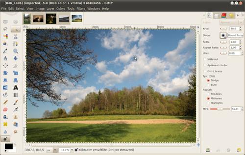 Vývojová verze GIMP 2.7