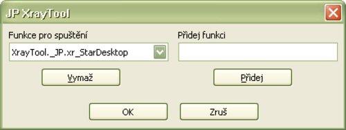 Pracovné okno pre pridávanie, mazanie a spúšťanie funkcií a procedúr