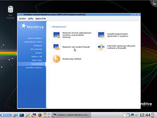 Aktivace firewallu v Mandriva Linuxu 2009
