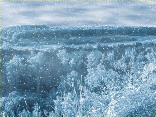 Vytvoření efektu padajícího sněhu