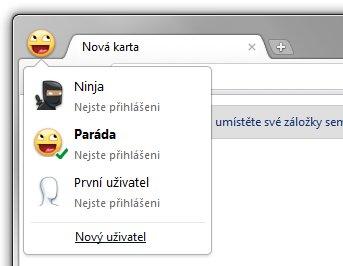 Google Chrome 16 – přepínání uživatelských profilů