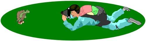 ...k malinkým objektům je nutno si lehnout nebo alespoň fotoaparát dát do vodorovné výšky jejich očí