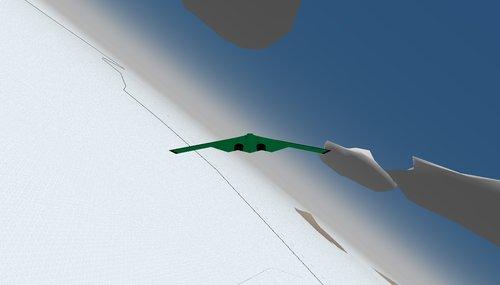 B-2 Northrop Grumman – příprava na přistání