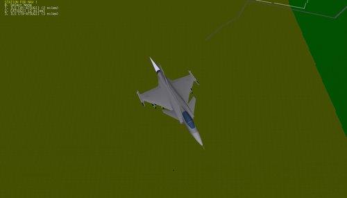 JAS-39 Gripen – pohled z vrchu