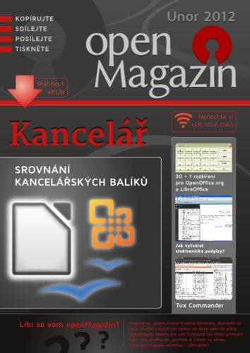 Titulní strana únorového openMagazinu