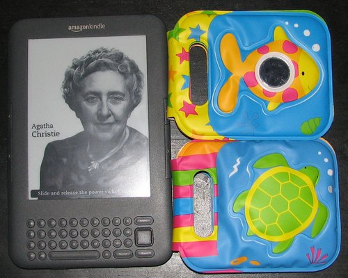 Srovnání velikosti s čtečkou elektronických knih Amazon Kindle 3