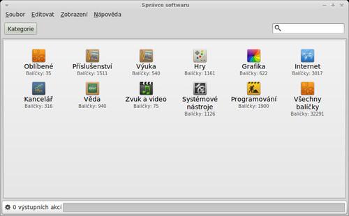Správce softwaru v distribuci Linux Mint