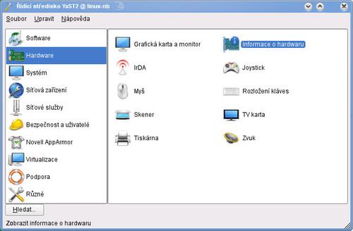 Správa hardwaru v distribuci openSUSE