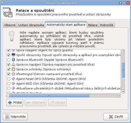 Další služby z KDE a GNOME