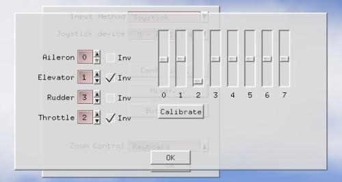 Kalibrace pákového ovladače