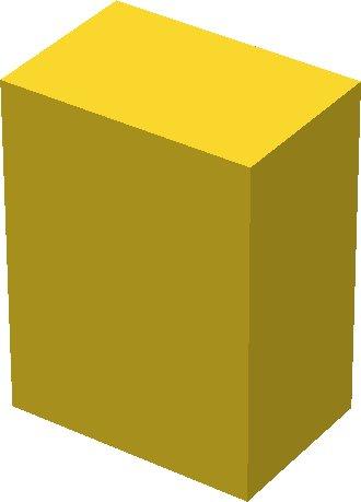 cube([10,15,20]);