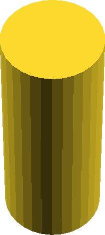 cylinder(r = 12.5, h = 62.5, center = true);