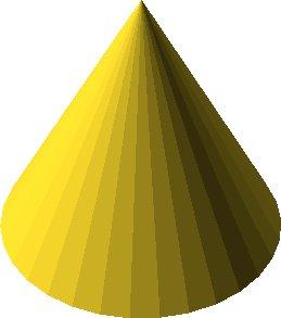 cylinder(r1 = 10, r2 = 0, h = 20);