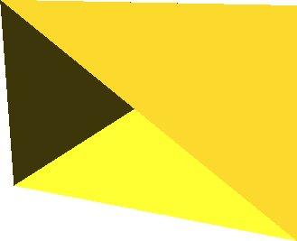 polyhedron(points = [[0,0,0],[100,0,0],[0,100,0],[0,100,100]], triangles = [[0,1,2], [1,0,3], [0,2,3]]); (Odebrán poslední trojú