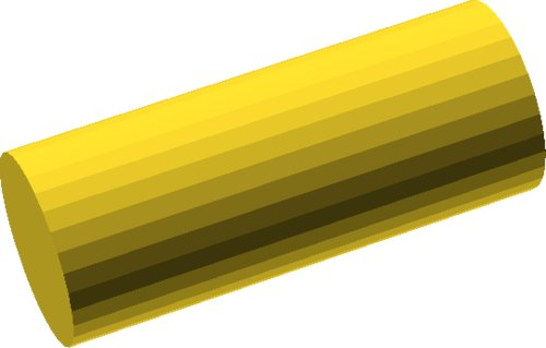 rotate(90, [1, 0, 0]) cylinder(r = 12.5, h = 62.5, center = true);