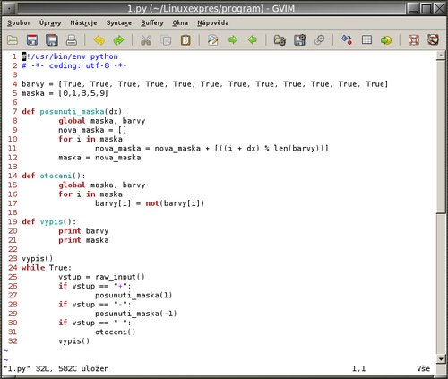 Zdrojový kód jádra programu