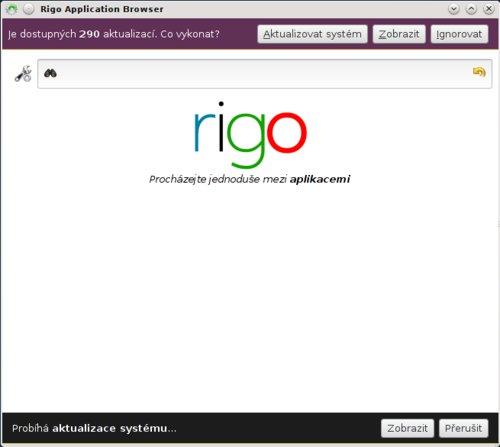 Poloautomatická aktualizace v distribuci Sabayon (nástroj rigo)