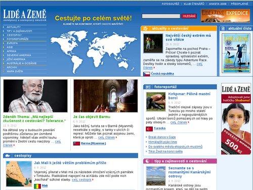 Ukázka Drupalu: Časopis Lidé a Země