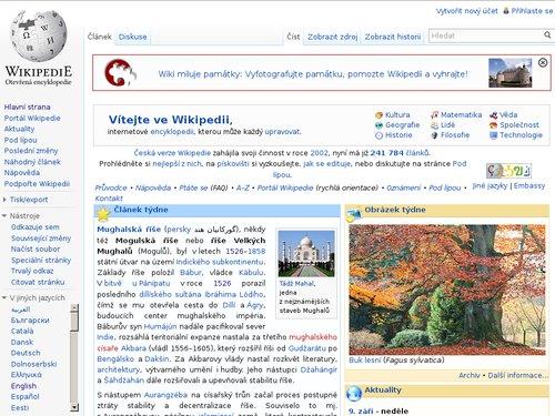 Wikipedia – nejznámější instalace wiki systému