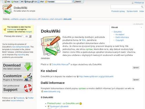 Oficiální stránky DokuWiki