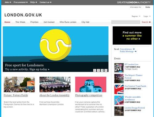 Ukázka Drupalu: Webové stránky Londýna