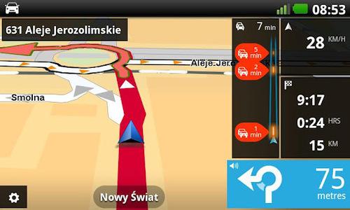 TomTom pro Android se drží osvědčeného rozhraní