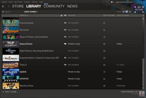 Obláček u hry značí podporu služby Steam Cloud