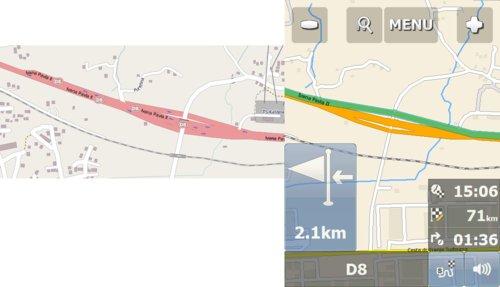 Výsledkem označení sjezdů stejnou kategorií může být při přesném dodržování pokynů navigace zbytečný sjezd a opětovný nájezd na