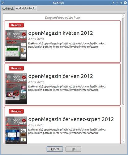 AZARDI desktop - vytváření shelfu pro knihy