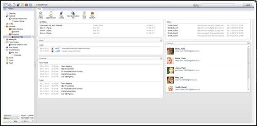 Vzhled webového rozhraní Open-Xchange